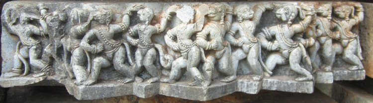 Madam - Hanuman's monkey army at Belur