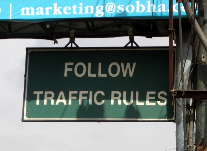 Madam, let me tell you one thing - Follow traffic rules