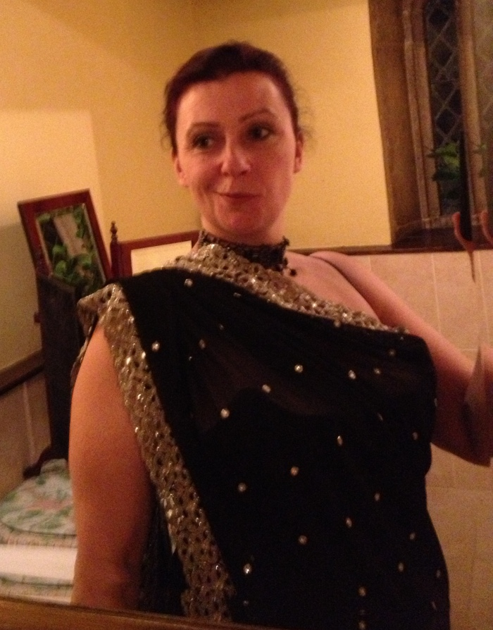 Madam - my first saree - just a tiny bit smug