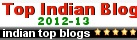 Apparently this is a top blog in India!