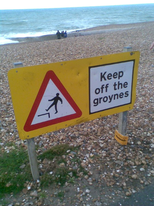Madam: Caution keep of the groynes in Hove actually