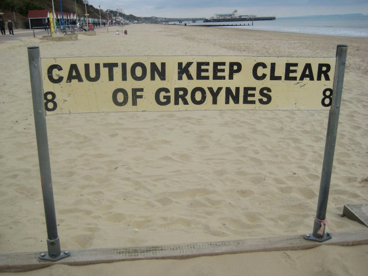 Madam: caution keep of the groynes in Bournemouth