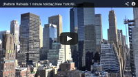 Video : 1 minute holiday : Shiny buildings in Manhattan, New York
