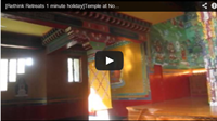 Video : 1 minute holiday : Serene golden Buddha, the Temple at Norbulingka