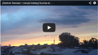 Video : 1 minute holiday : Sunrise at Rethink Central, India