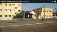 Video : 1 minute holiday : Early morning on Ponducherry Beach