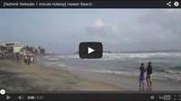Video : 1 minute holiday : Hawah Beach in Kerala, Southern India