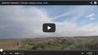 Video : 1 minute holiday : Windy walk over the dunes in Norfolk