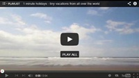 Video : 1 minute holiday : Empty beach time on Costa Rica's Caribbean coast