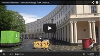 Video : 1 minute holiday : That is a beautiful curve – Park Crescent, London