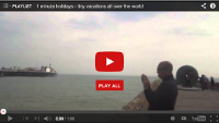 Video: 1 minute holiday: Brighton Beach, UK