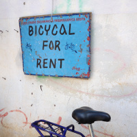 Signage Sunday: Bicycal for rent