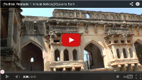 Video: 1 minute holiday: Queen's Bath, Hampi, Karnataka