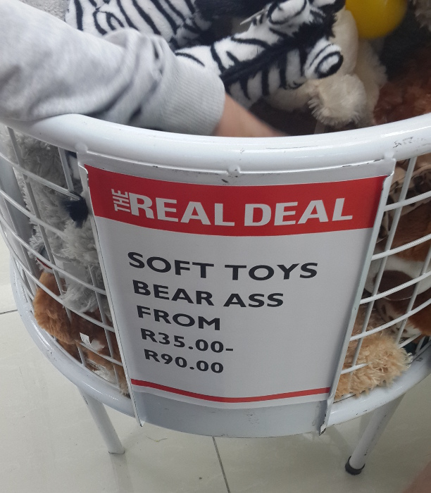 Madam - Signage Sunday -  Bear Ass Buys